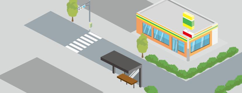 バス停や看板にも